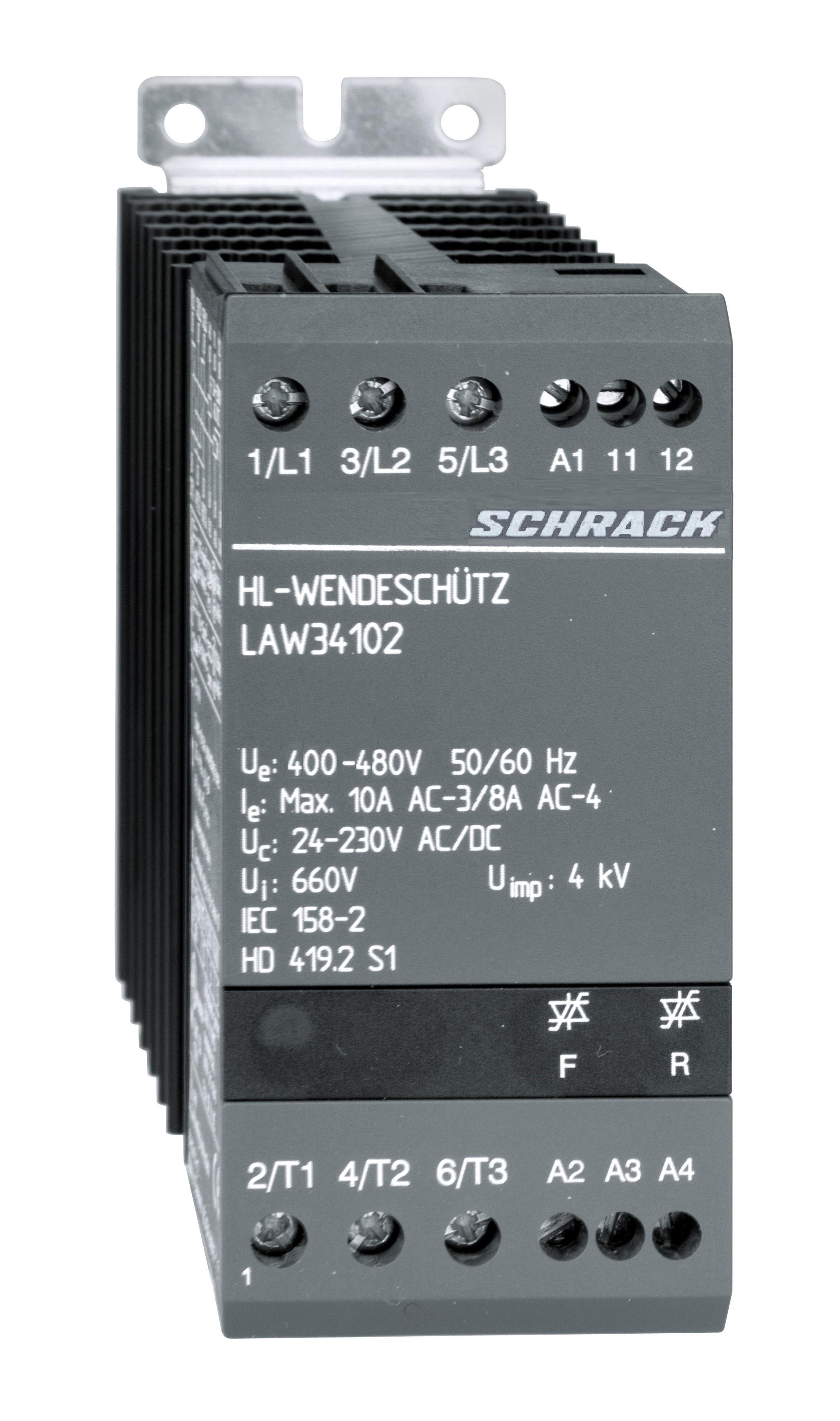 1 Stk Halbleiter-Wendeschütz 3polig 10A/24-480VAC/DC LAW34102--