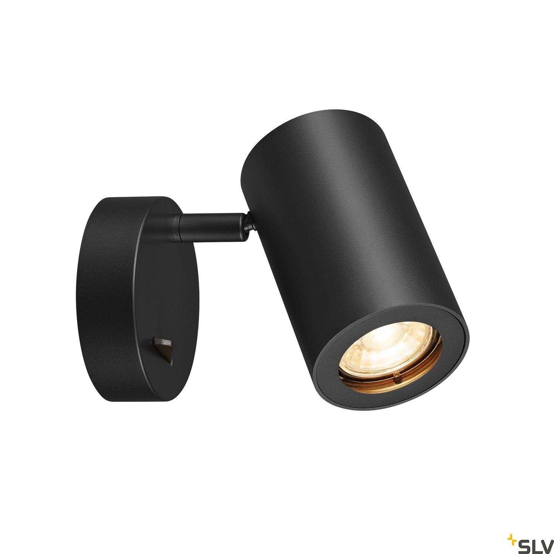1 Stk ENOLA_B Wandleuchte,QPAR51,mit Schalter,schwarz,max. 50W  LI1000729-