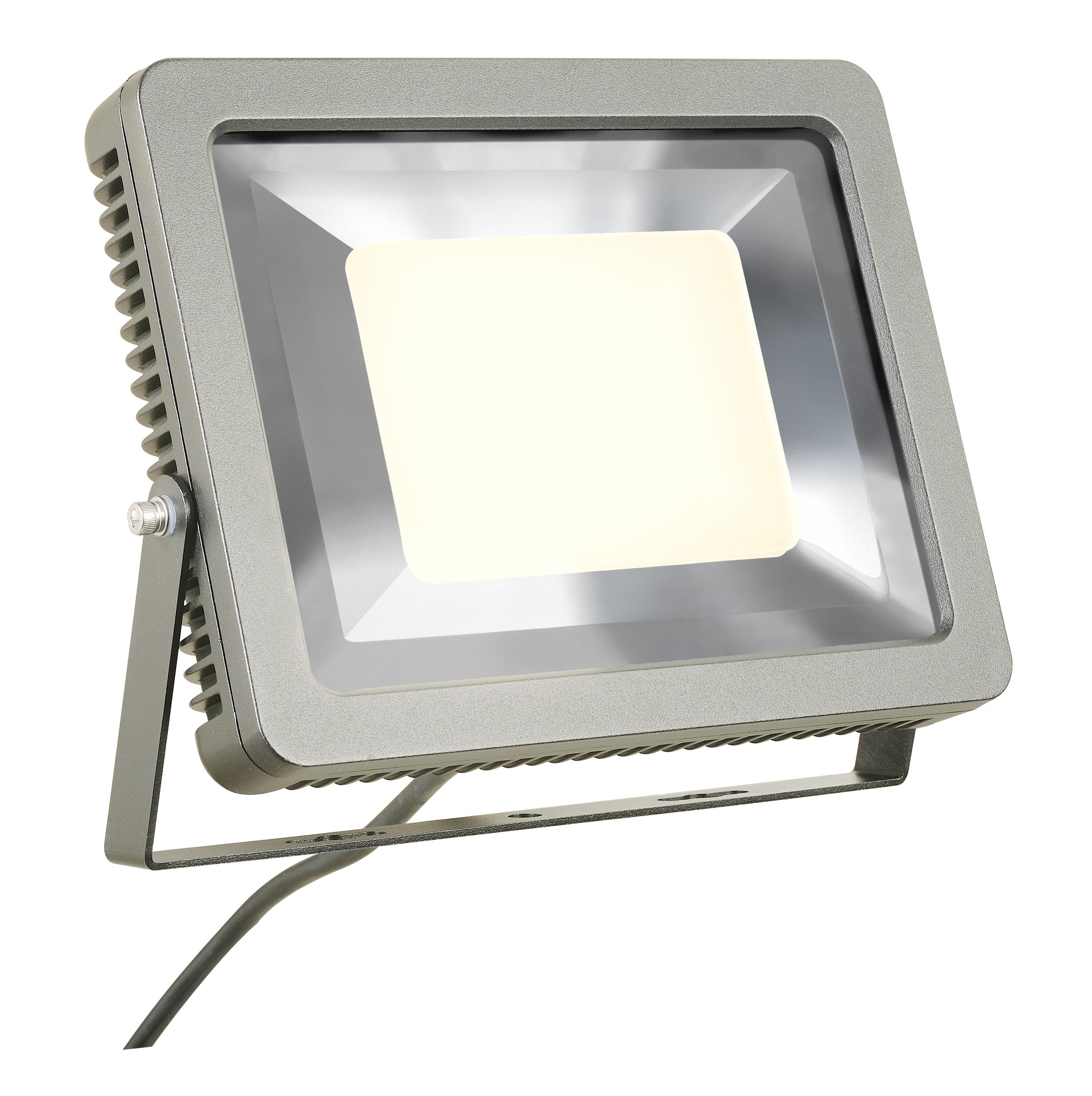 1 Stk SPOODI Strahler, eckig, 60W, silbergrau, 3000K LED LI232844--