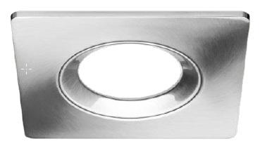 1 Stk Downlight Einbaurahmen 90, gebürstetes Aluminium,quadratisch LI28000524