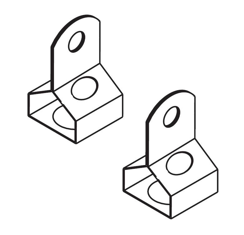 1 Stk Linda Aufhängehaken aus Edelstahl für 11W LI2JLT0462