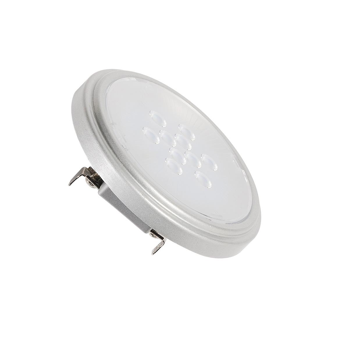 1 Stk QR111 Retrofit LED Leuchtmittel, G53, 4000K, 40°, silbergrau LI560664--
