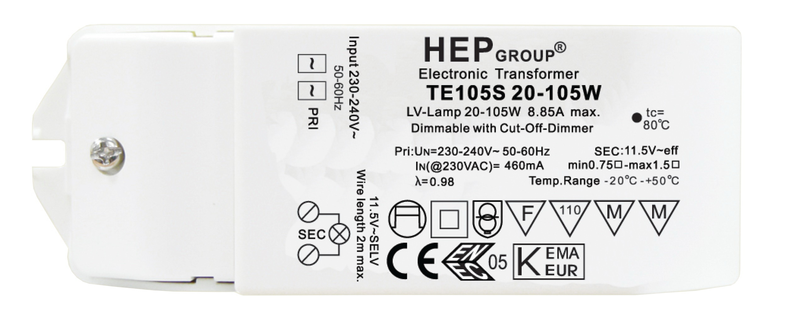 1 Stk Elektronischer Transformator, 240/12V, 10-60VA, Dimm LI5ZTI60S-