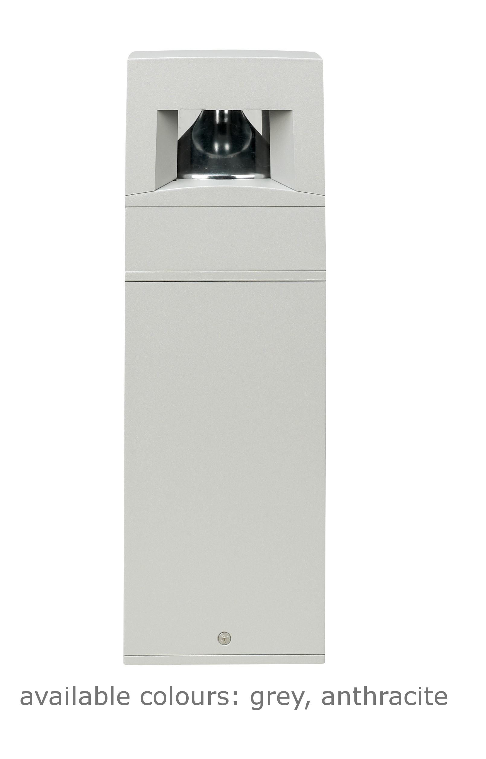 1 Stk PATH POLE 50cm 360° 8x1W LEDS, 40° 4000K RAL9006 LI6PT2192A