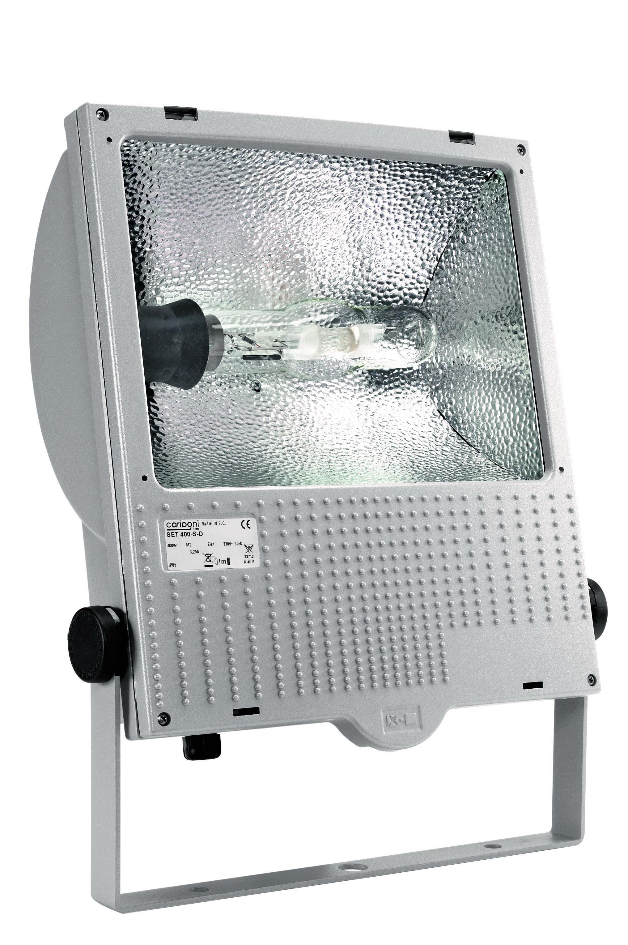 1 Stk Set 250W HIT E40 IP65 Scheinwerfer symmetrisch, RAL9006 LI6S4007R4