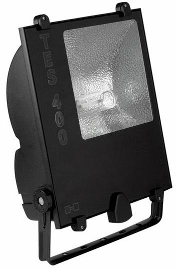 1 Stk TES 250W HIT E40 2,15A IP65 Scheinwerfer symm., RAL9005 LI6S4207C4