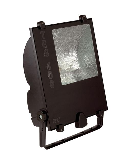 1 Stk TES 400W HIT E40 3,25A IP65 Scheinwerfer asymm., RAL9005 LI6S4228C4