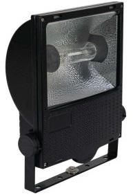 1 Stk Set 150W HST E40 IP65 Scheinwerfer symmetrisch, RAL9005 LI6S5023C2