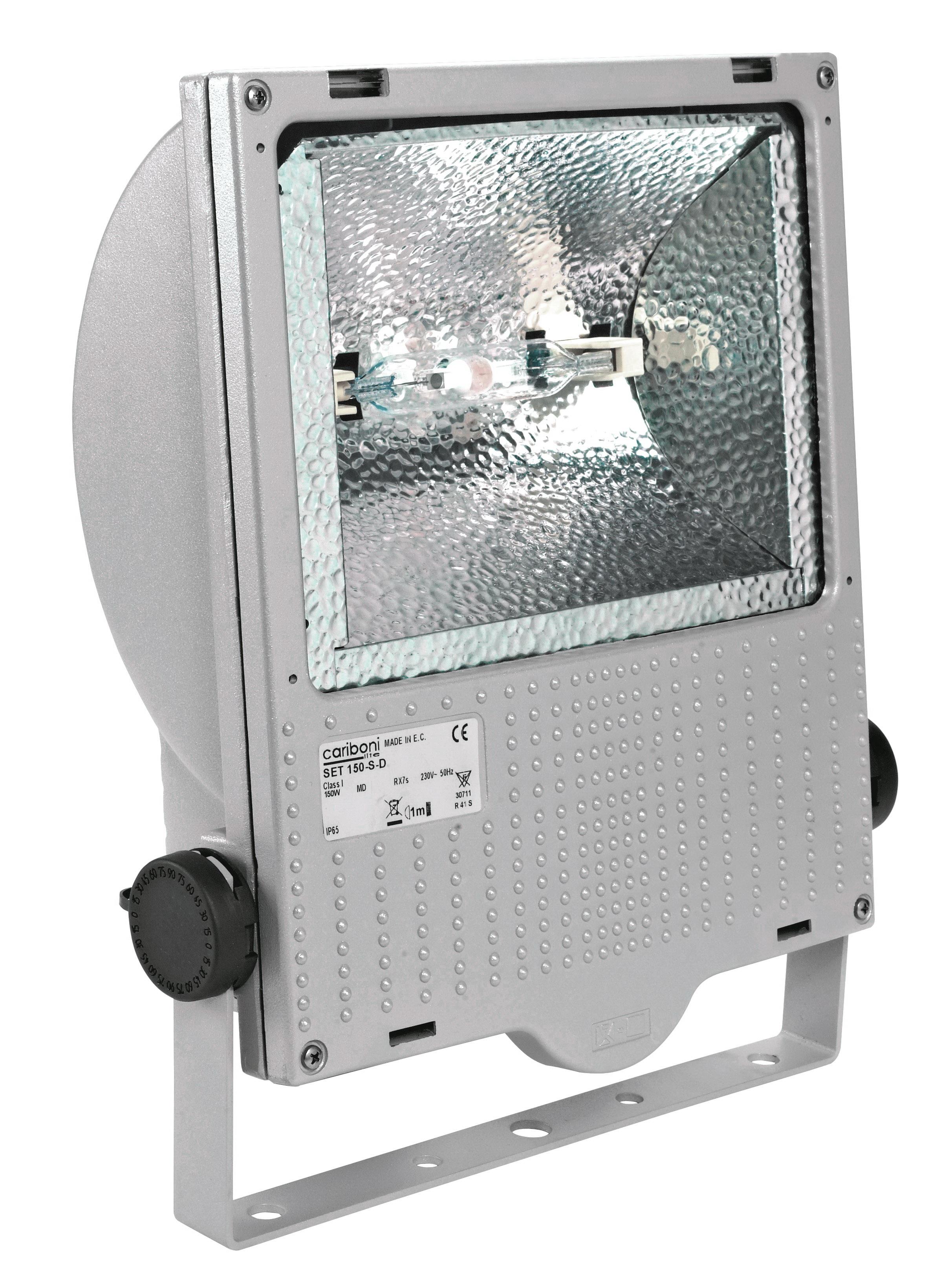 1 Stk Set 150W HIT-DE RX7s IP65 Scheinwerfer asymmetrisch, RAL9006 LI6S5041R4