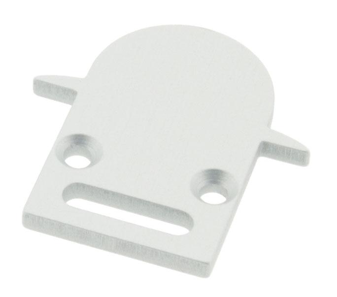 1 Stk Profil Endkappe LBI Rund mit Langloch LIEK001511