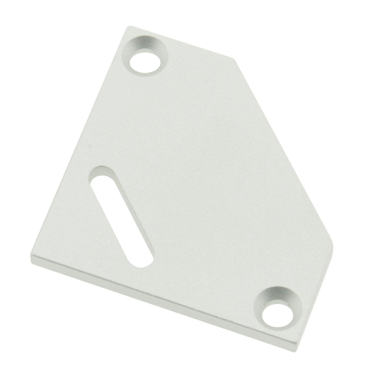 1 Stk Profil Endkappe TBE Flach mit Langloch inkl. Schrauben LIEK002601
