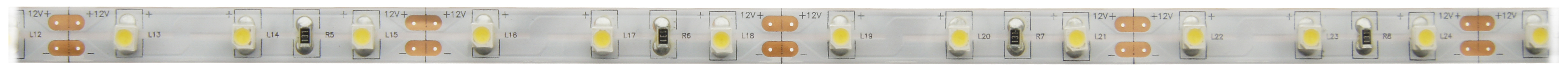 1 Stk Flexstrip 24 NW, Ra=90+, 6,4W/m, 544lm/m, 12VDC, IP44, l=5m LIFS001003