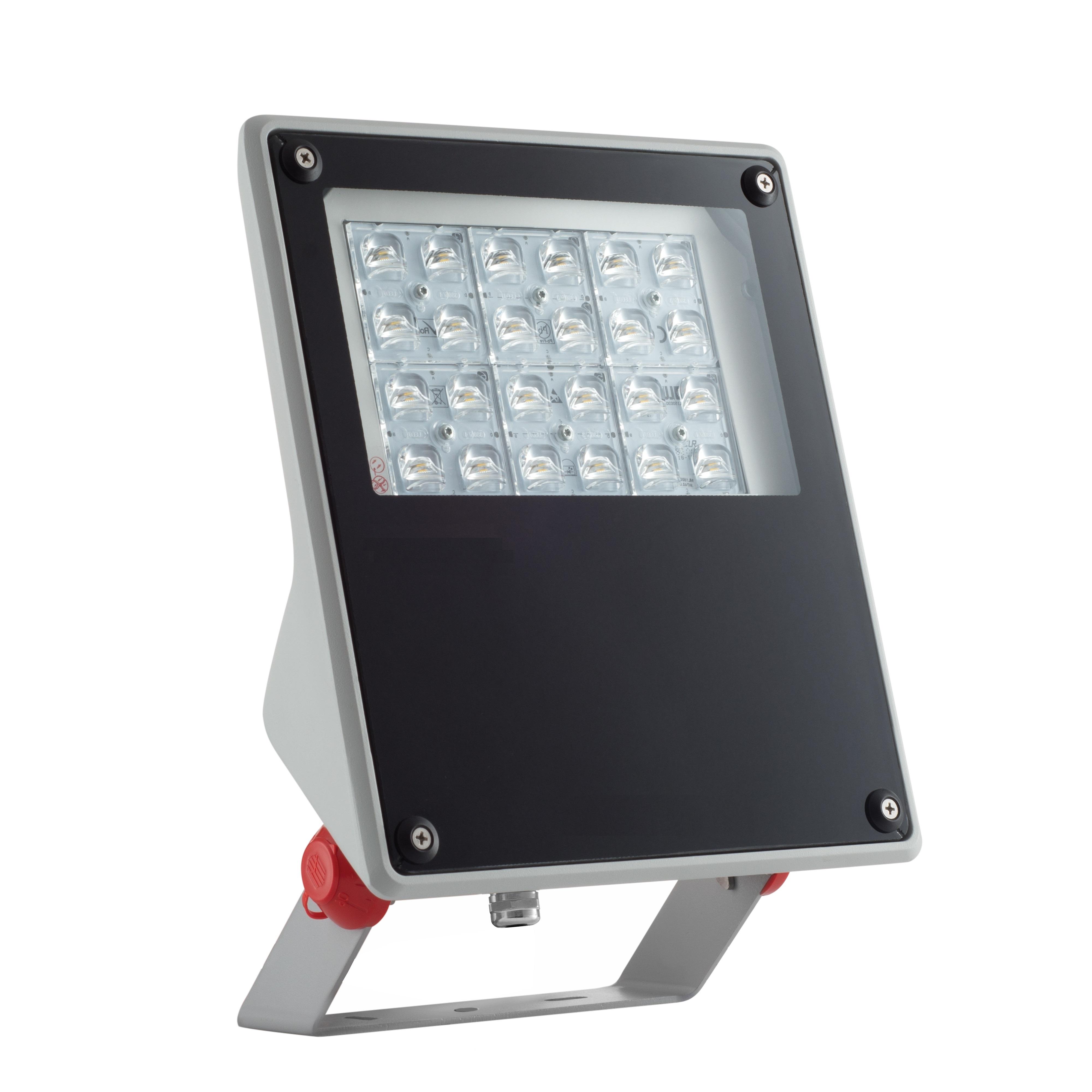1 Stk FORCA LED Mini 27W 3250lm 4000K EVG IP65 25?symmetrisch grau LIG5L01111