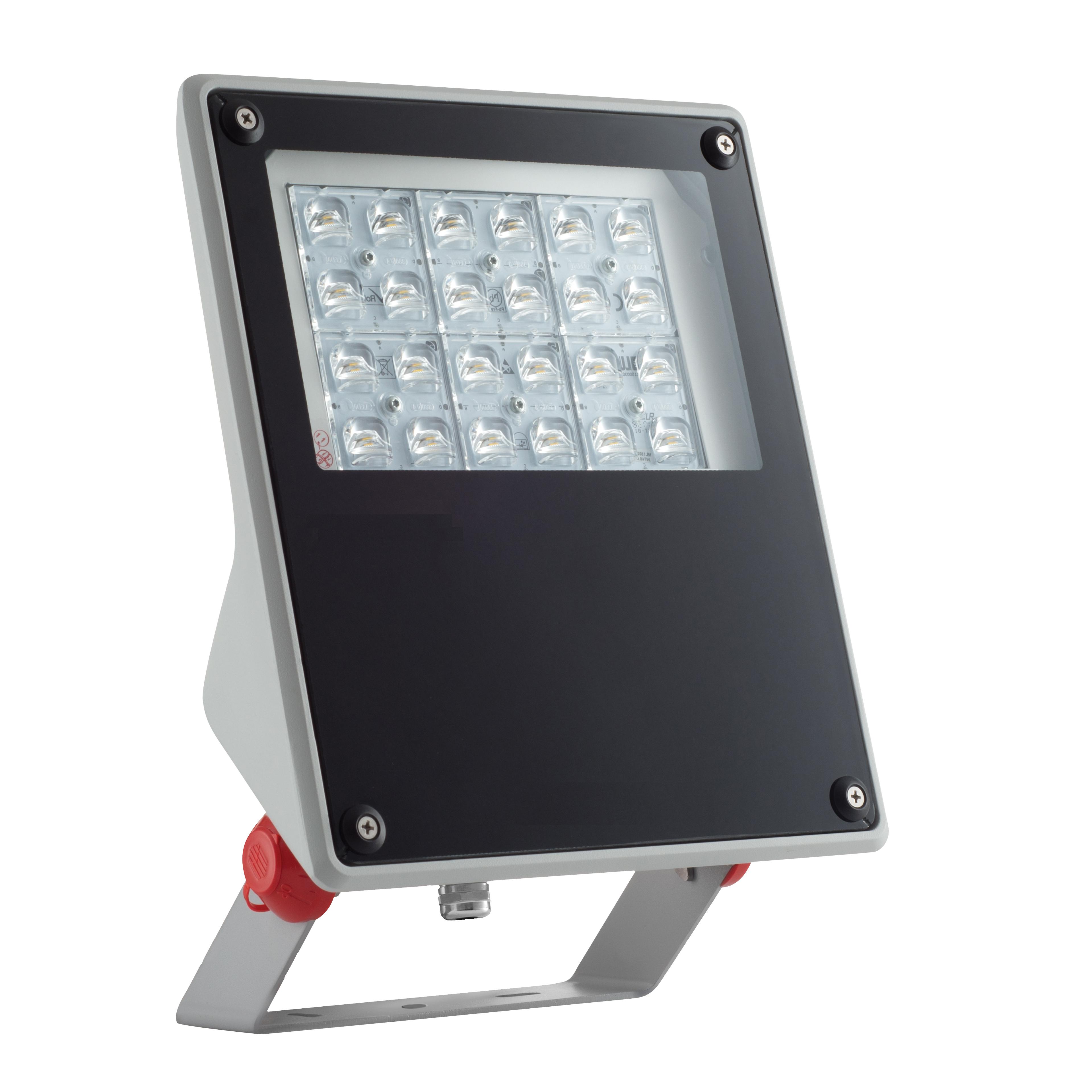 1 Stk FORCA LED Mini 57W 5650lm 4000K EVG IP65 asymmetrisch, grau LIG5L07141