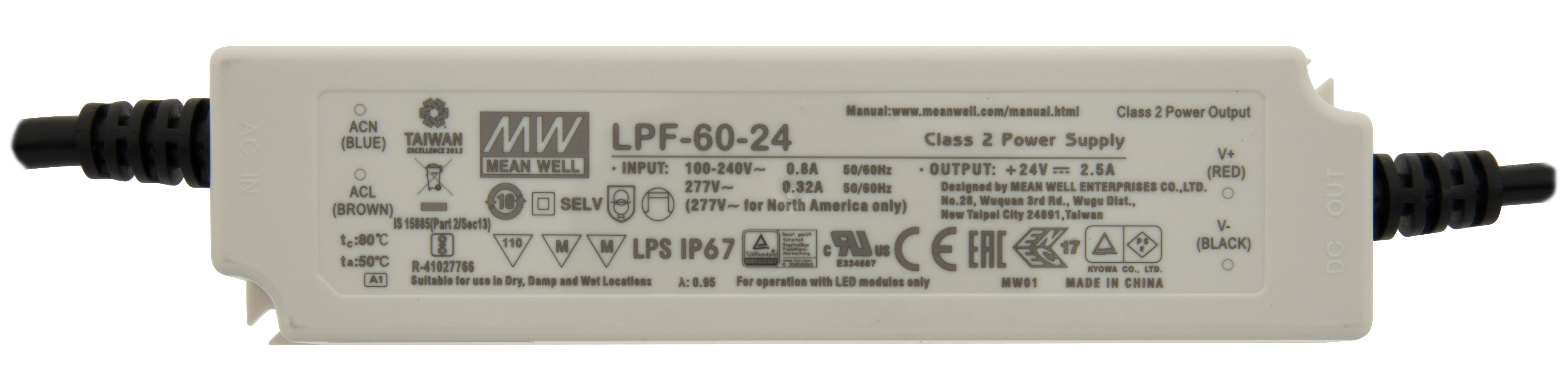 1 Stk LED Netzteil LPF 40W/24V, MM, IP67 LINT024040