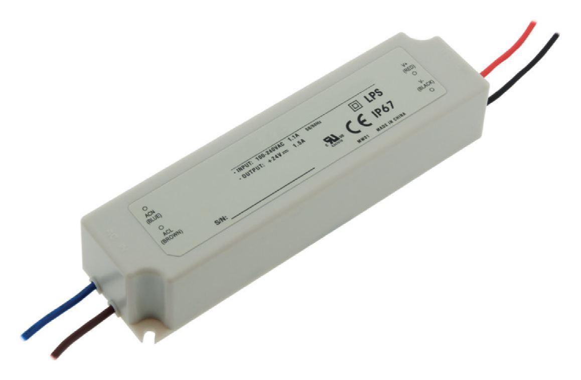 1 Stk LED Netzteil LPH 18W/24V, IP67 LINT124018