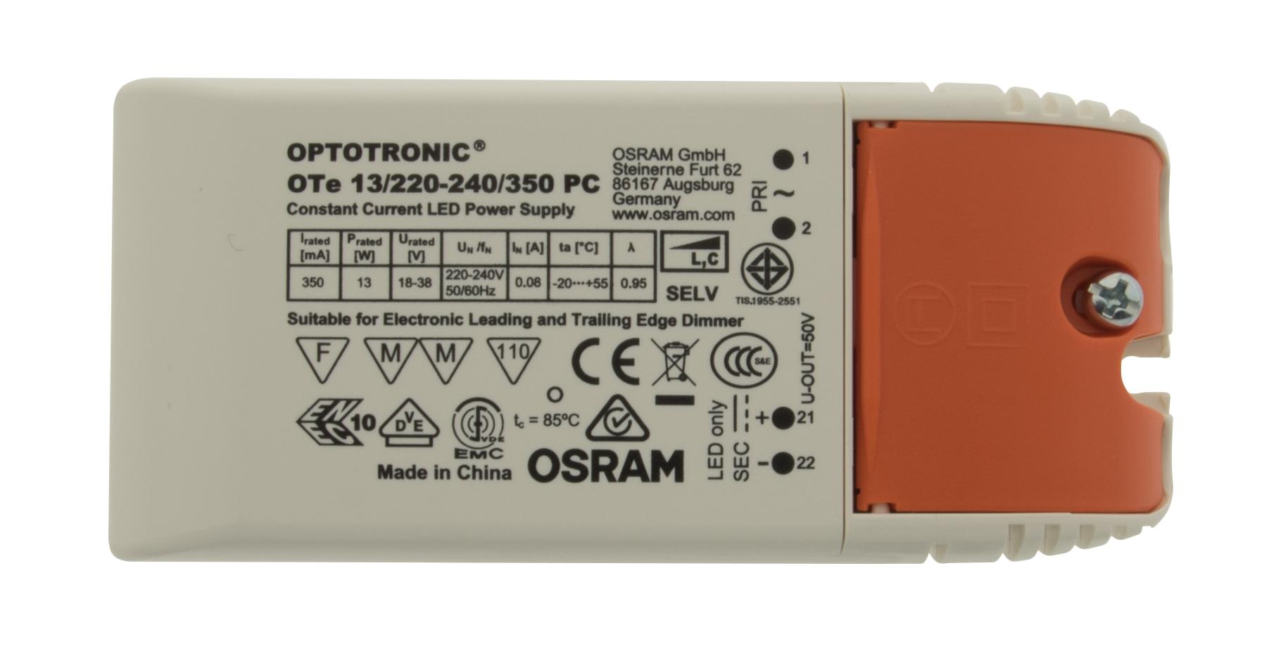 1 Stk LED Netzteil OS 13W/350mA, Dimmbar, MM, IP20 LINT313350