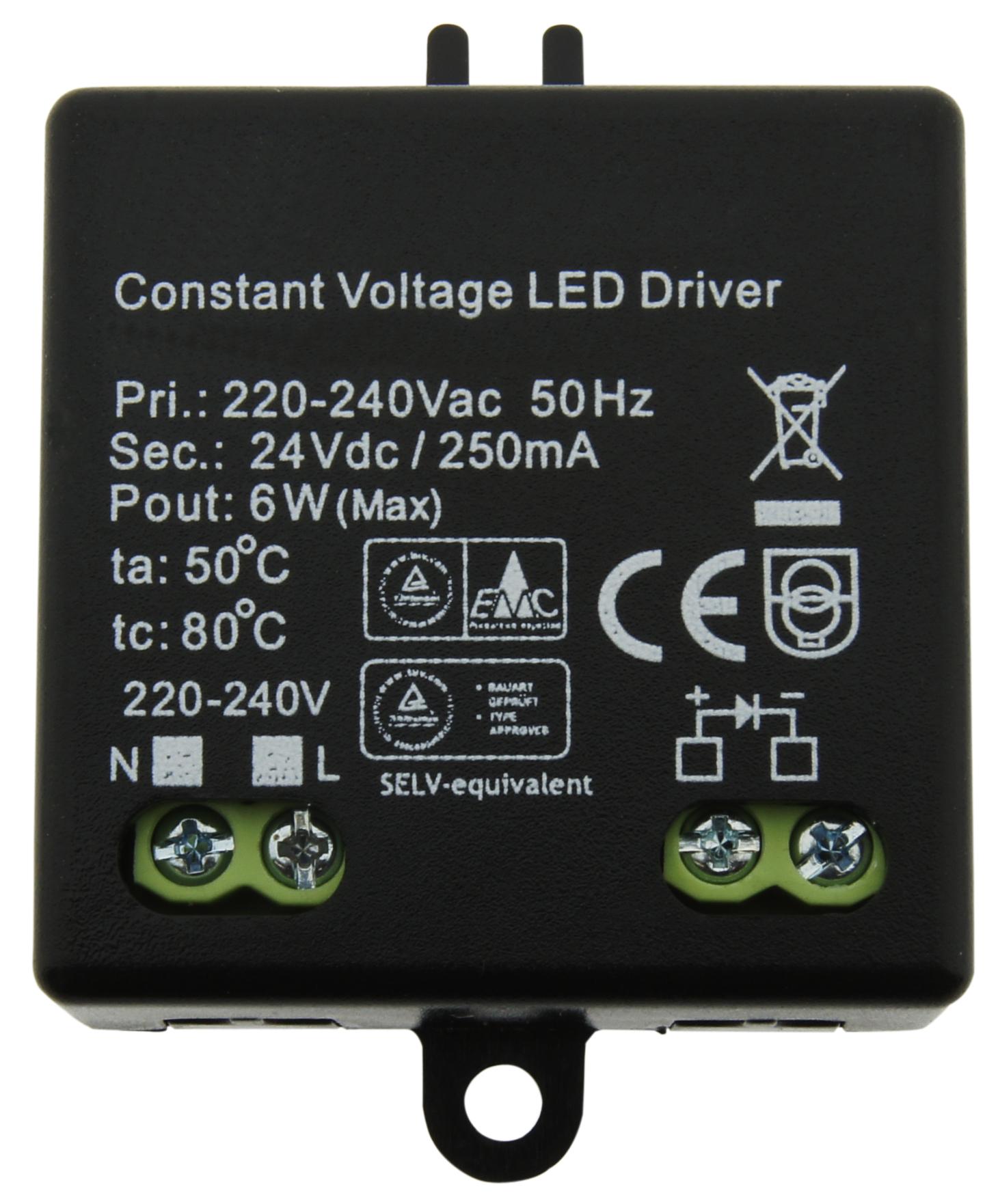 1 Stk LED Netzteil HW 6W/24V Mini, IP20 LINT524006