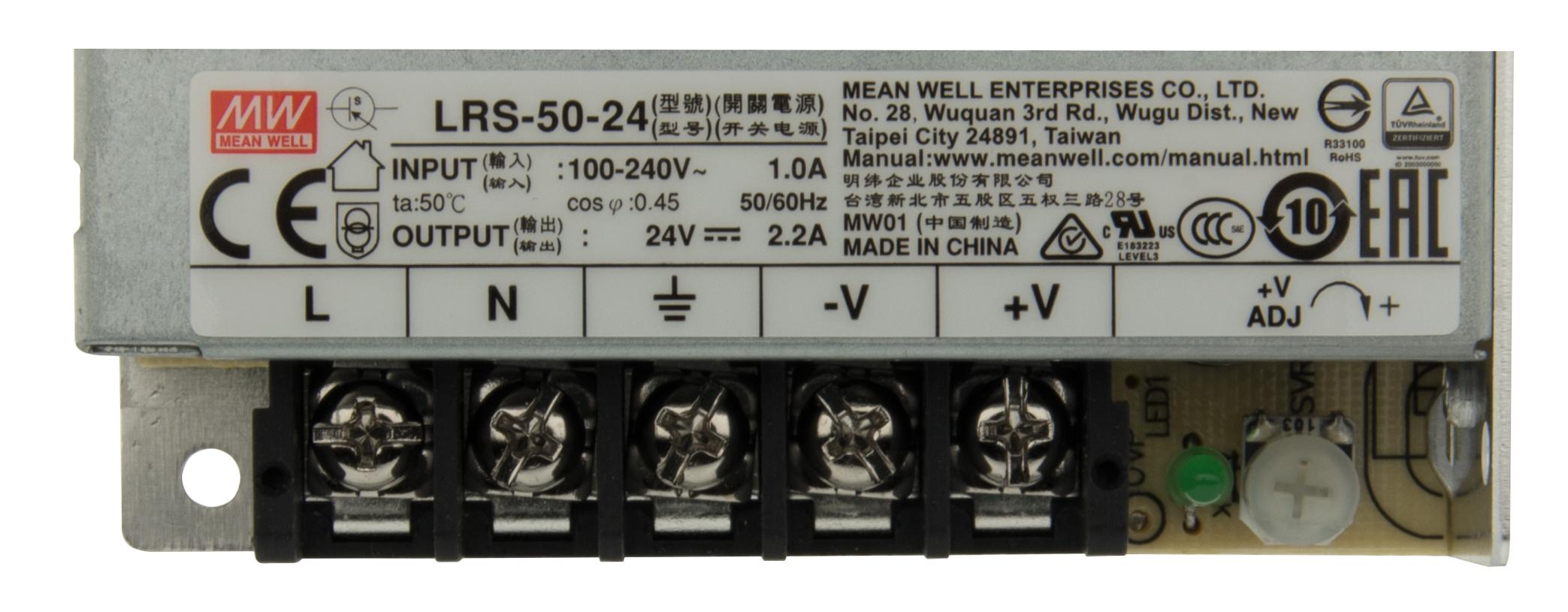 1 Stk LED Netzteil RS 50W/12V, IP20 LINT612050