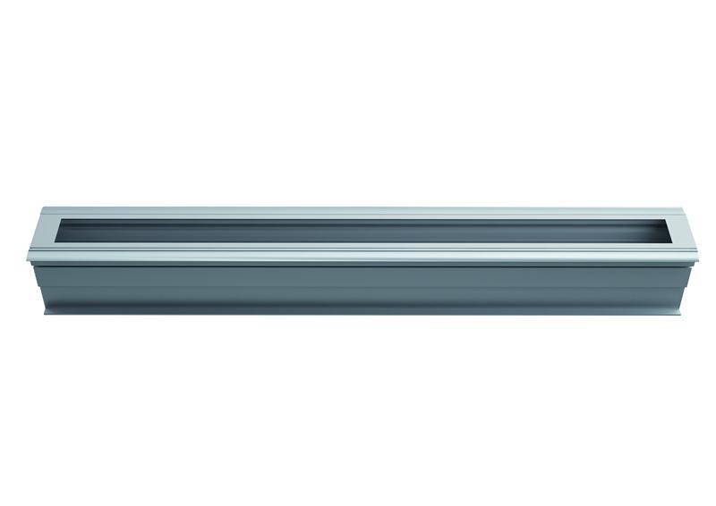 1 Stk TRAIL Ground LED 650mm 19W 1800lm Symm.3000K,Matt, Alu-farbe LIR2H2393J