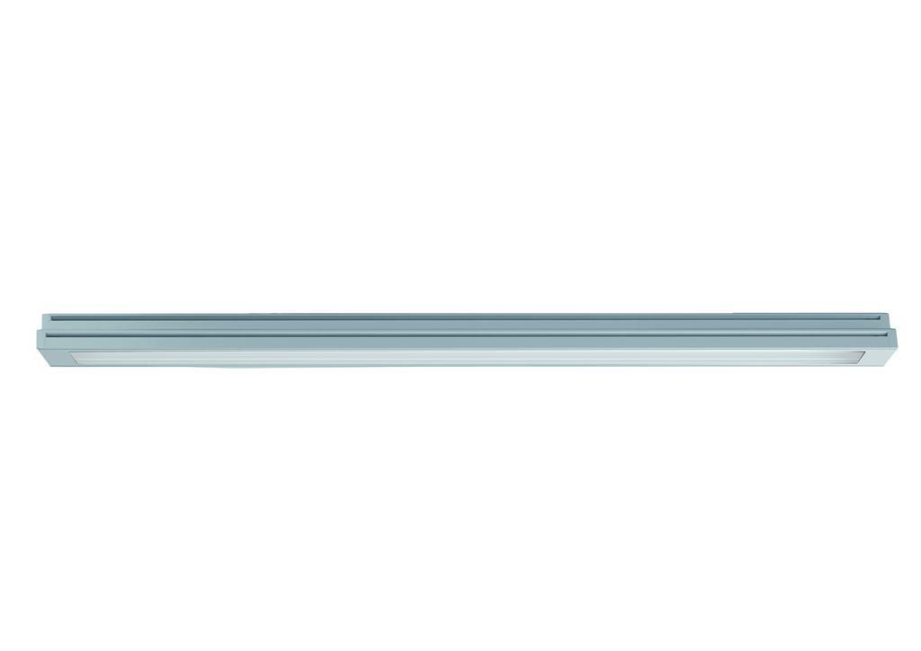1 Stk TRAIL Ground LED 1250mm 19W,1800lm Asym.3000K,Klar,Alu-farbe LIR3H2397J
