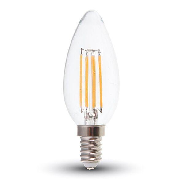 1 Stk LED Kerze 4W Filament E14 2700K, 400lm, 300° LIVT4301--