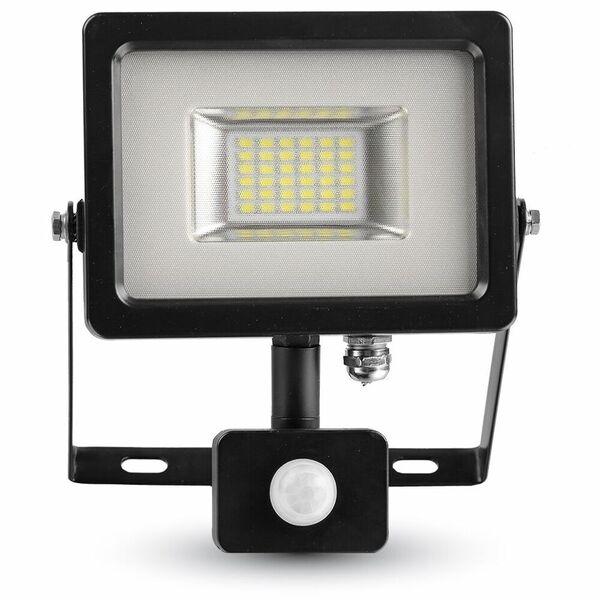 1 Stk LED Floodlight 20W schwarz/grau 3000K, 1600lm, IP44, Sensor LIVT5697--