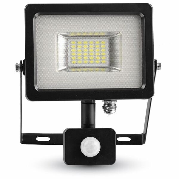 1 Stk LED Floodlight 20W schwarz/grau 4500K, 1600lm, IP44, Sensor LIVT5698--