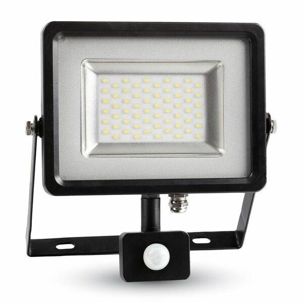 1 Stk LED Floodlight 50W schwarz/grau 4500K, 4000lm, IP44, Sensor LIVT5702--