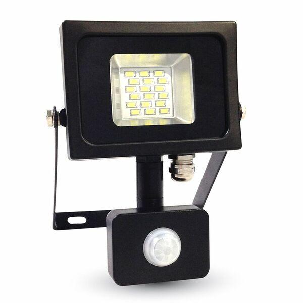 1 Stk LED Floodlight 10W schwarz/grau 4500K, 800lm, IP44, Sensor LIVT5724--