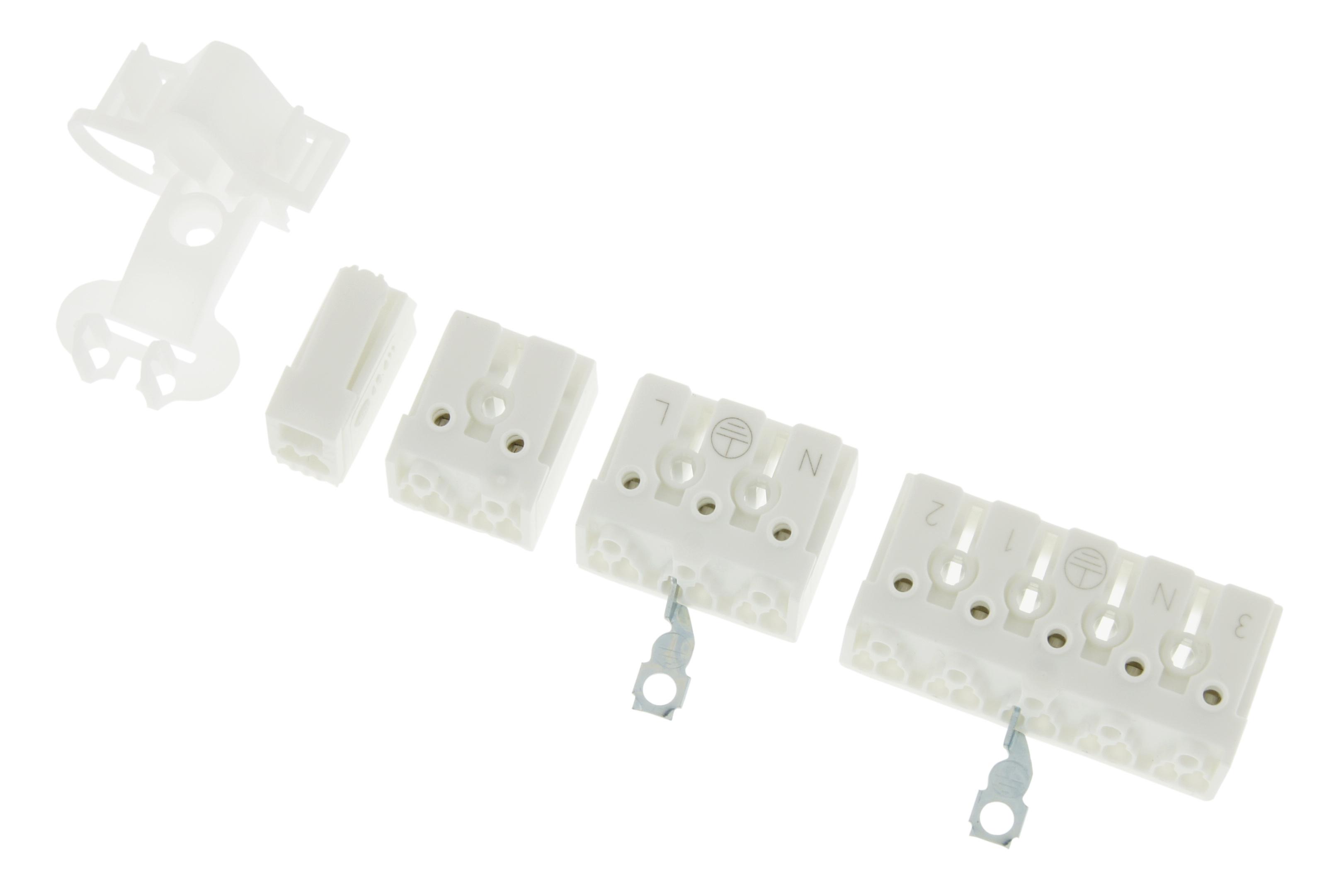 1 Stk Zugentlastung für 3 und 5 polige Leuchtenklemmen LIZU016000