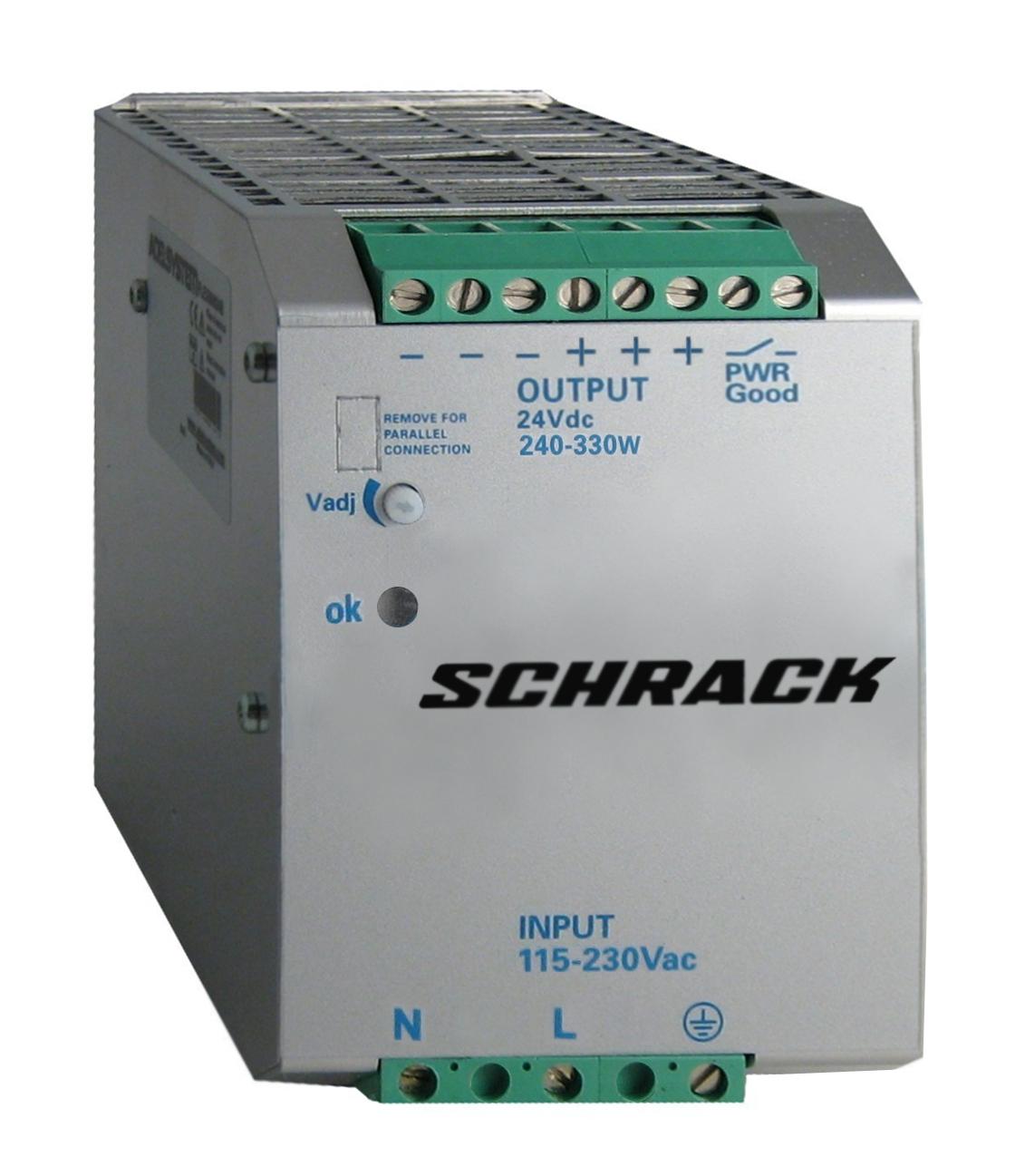 1 Stk Einphasiges Netzgerät getaktet, 230VAC/24VDC, 12A bei 50°C LP412412--