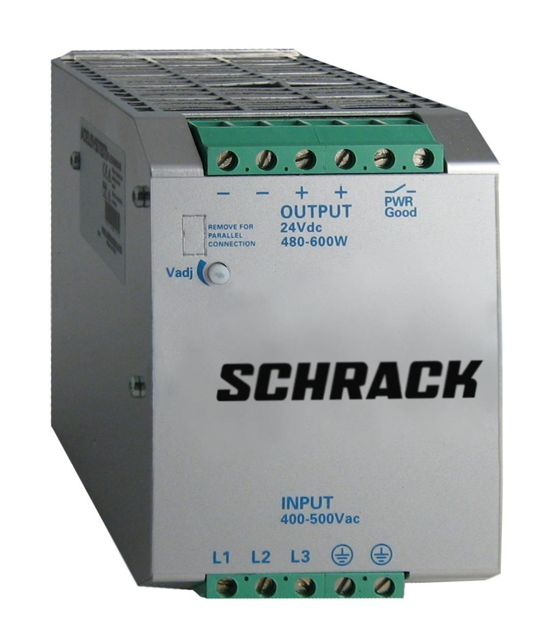 1 Stk Dreiphasiges Netzgerät getaktet, 400VAC/24VDC, 22A bei 50°C LP432422--
