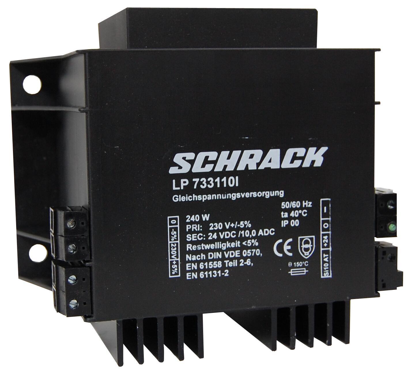 1 Stk Einpoliges Netzgerät, ungeregelt, vergossen, 230/24VDC, 10A LP733110I-