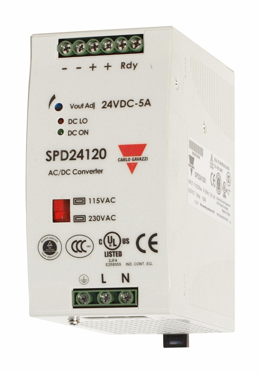 1 Stk Schaltnetzteil 24VDC 5A 120W LP749120--