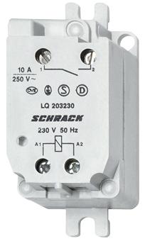 1 Stk Fernschalter für Doseneinbau, 24VAC /14VDC, 1 Schließer, 10A LQ203024--
