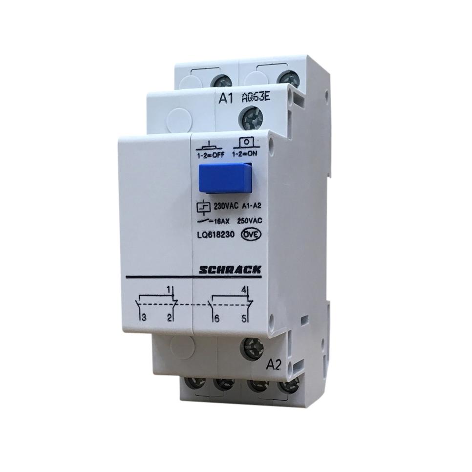 1 Stk Reiheneinbau Fernschalter, 2 Wechsler, 230VAC LQ618230--