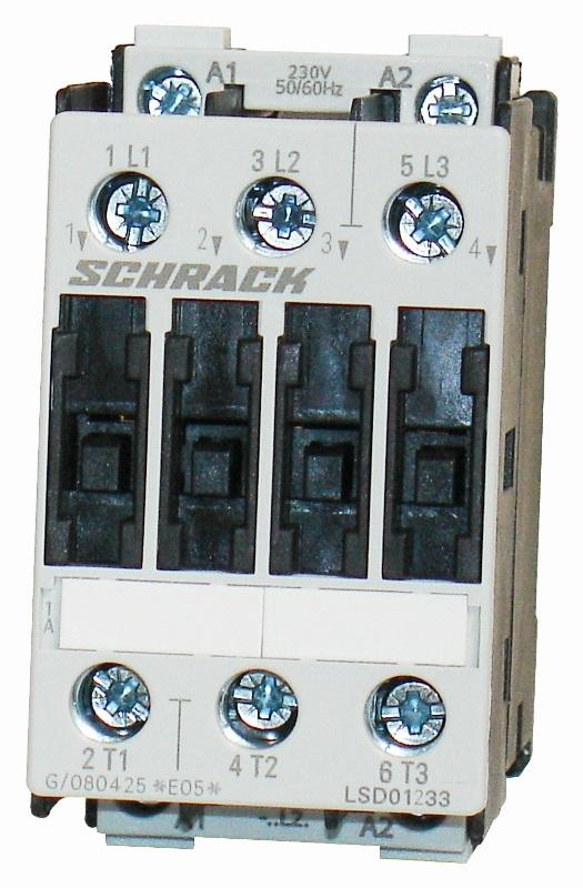 1 Stk Leistungsschütz, 5,5kW, 12A AC3, 230VAC, 0 LSD01233--