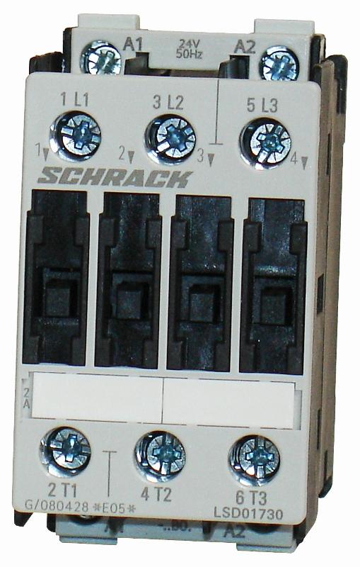 1 Stk Leistungsschütz, 7,5kW, 17A AC3, 24VAC, 0 LSD01730--