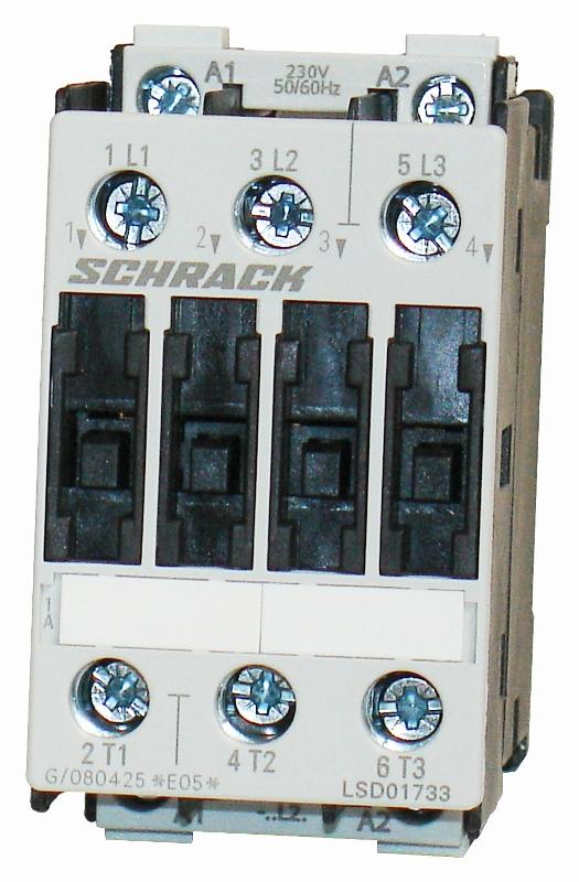 1 Stk Leistungsschütz, 7,5kW, 17A AC3, 230VAC, 0 LSD01733--