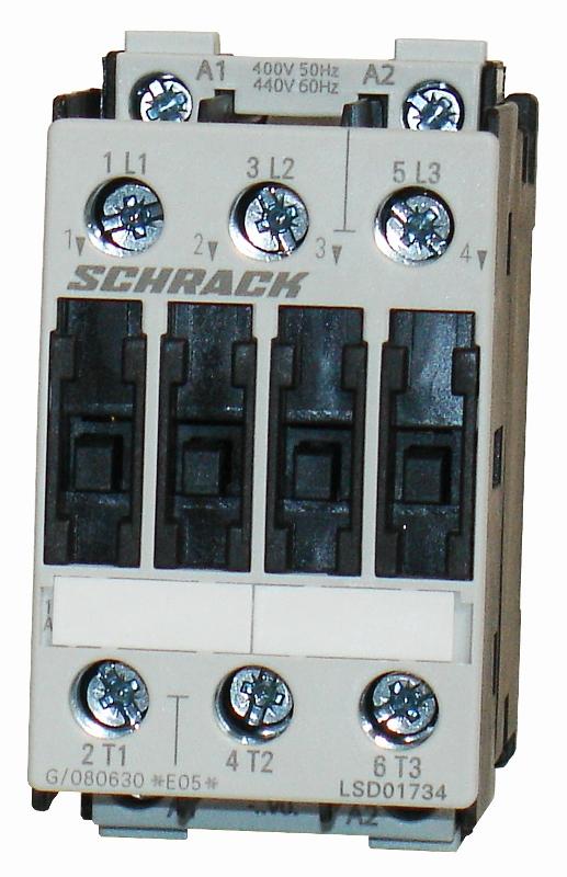 1 Stk Leistungsschütz, 7,5kW, 17A AC3, 400VAC, 0 LSD01734--