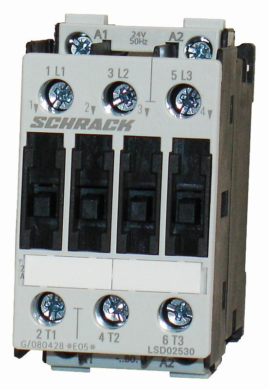 1 Stk Leistungsschütz, 11kW, 25A AC3, 24VAC, 0 LSD02530--