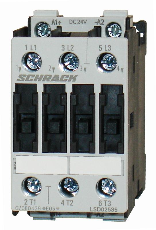 1 Stk Leistungsschütz, 11kW, 25A AC3, 24VDC, 0 LSD02535--