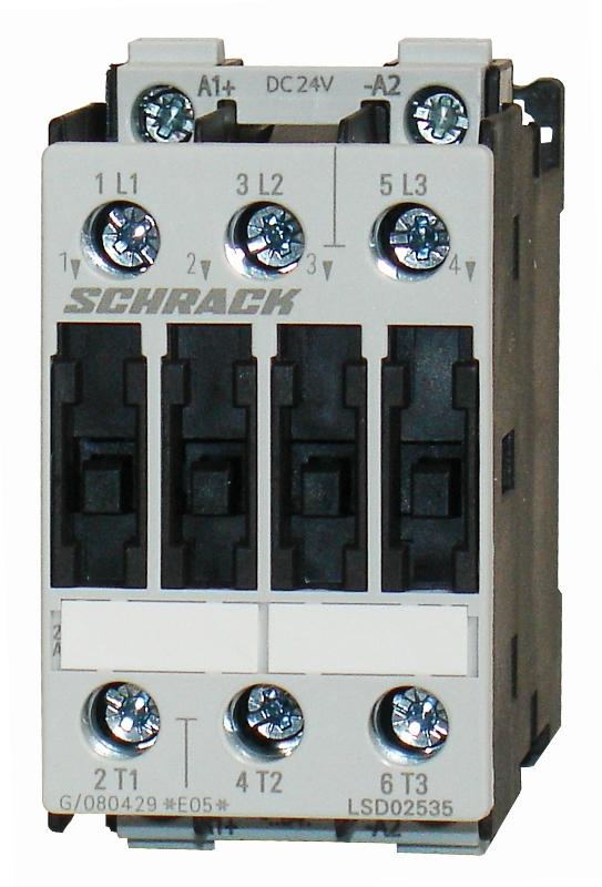 1 Stk Leistungsschütz, 15kW, 32A AC3, 24VAC, 2 LSD23230--