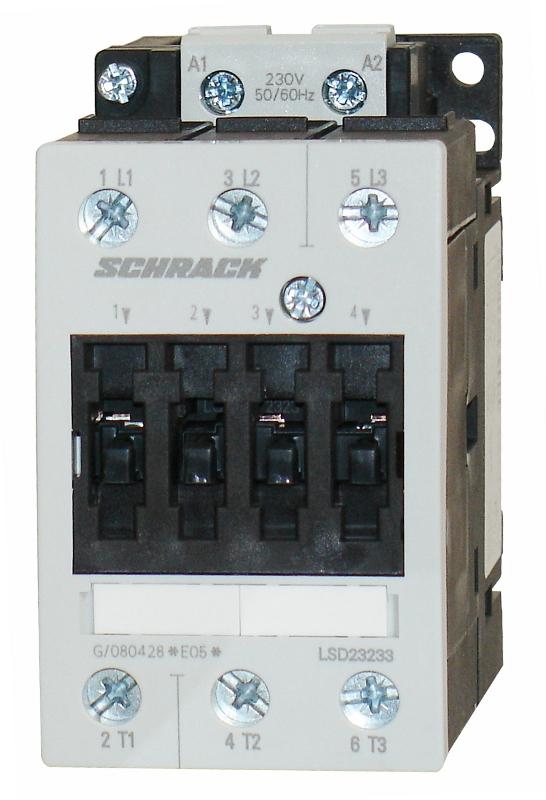 1 Stk Leistungsschütz, 15kW, 32A AC3, 230VAC, 2 LSD23233--