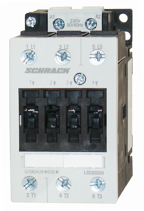 1 Stk Leistungsschütz, 18,5kW, 40A AC3, 24VDC, 2 LSD24035--