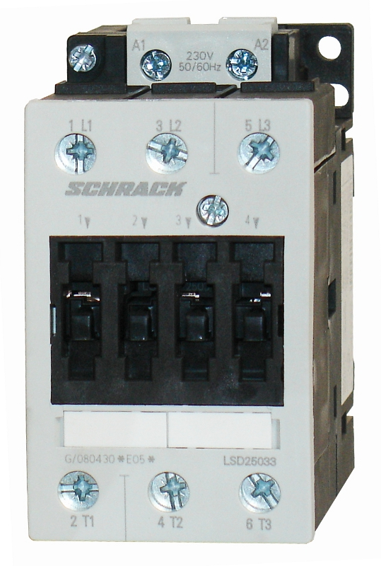 1 Stk Leistungsschütz, 22kW, 50A AC3, 24VAC, 2 LSD25030--