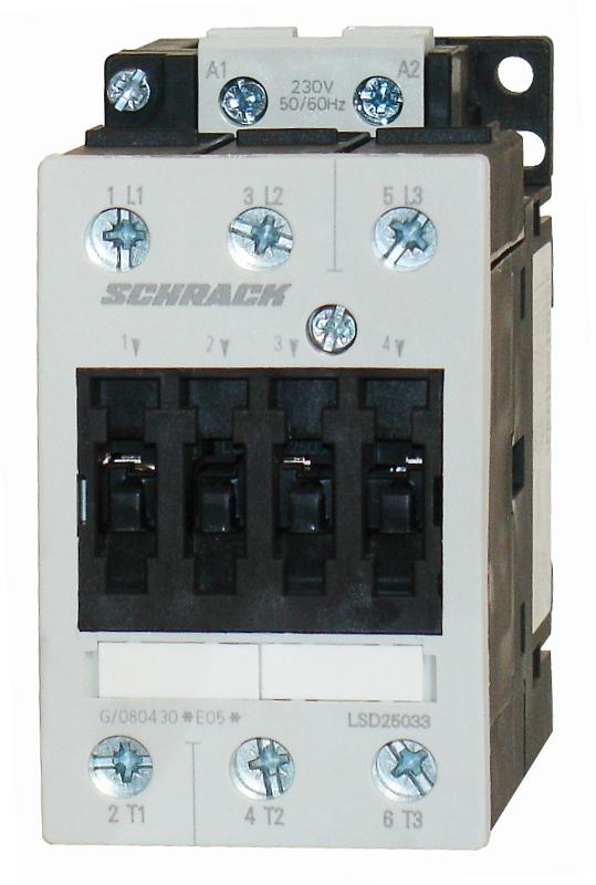 1 Stk Leistungsschütz, 22kW, 50A AC3, 110VAC, 2 LSD25032--