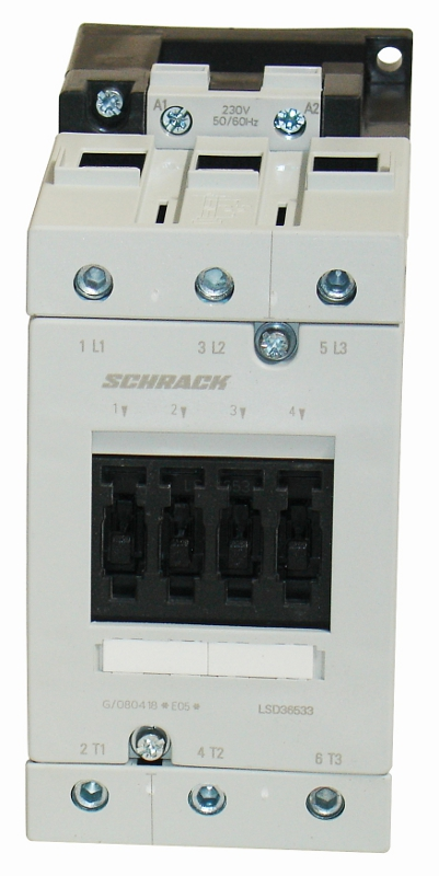 1 Stk Leistungsschütz, 30kW, 65A AC3, 24VAC, 3 LSD36530--