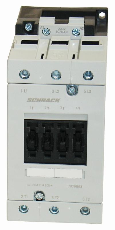 1 Stk Leistungsschütz, 30kW, 65A AC3, 230VAC, 3 LSD36533--